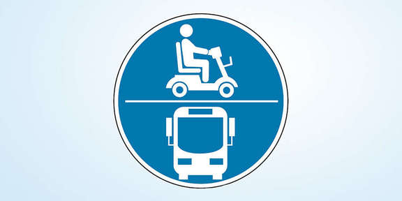 Pictogram for suitable e-scooters