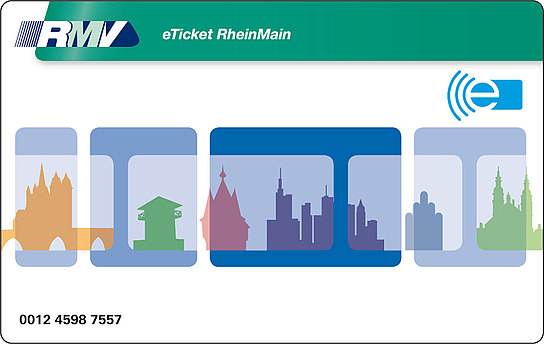 eTicket RheinMain Kartendesign blau