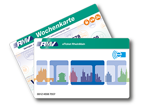 Weekly ticket for adults fanned out as smartcard and paperticket