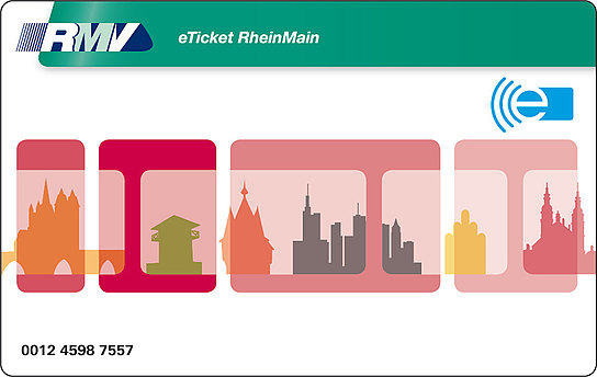 eTicket RheinMain Kartendesign rot